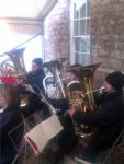 Bass Section Christmas Carolling at Trereife Christmas Fair